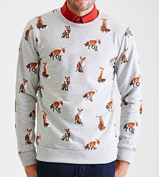 sweater with foxes